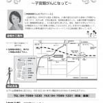 2013年6月22日(土)子宮頸がんセミナーのチラシ(裏)